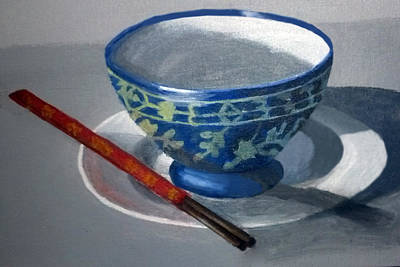 Painting - Empty Rice Bowl by Barbara J Blaisdell