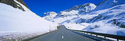 Graubunden Photograph - Empty Road Passing Through A Polar by Panoramic Images