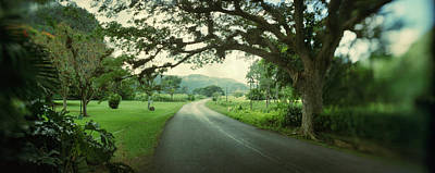 Asphalt Photograph - Empty Road Passing Through Vinales by Panoramic Images