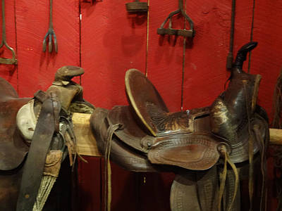 Photograph - Empty Saddles by Jacqueline  DiAnne Wasson