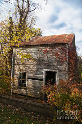 Photograph - Empty Shell Of A House by Terry Rowe
