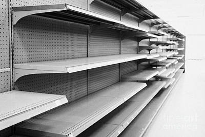 empty shelves in a store in Saskatoon saskatchewan canada Art Print by Joe Fox