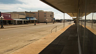 From The Kitchen - empty sidewalks Coleman TX by Trace Ready
