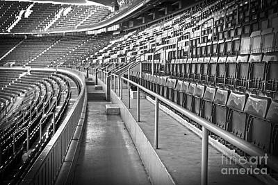 Empty Chairs Photograph - Empty Soccer Stadium by Michal Bednarek