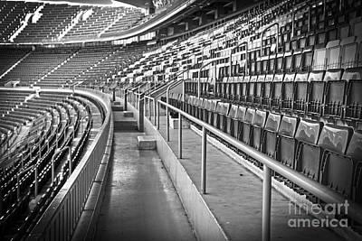 Photograph - Empty Soccer Stadium by Michal Bednarek