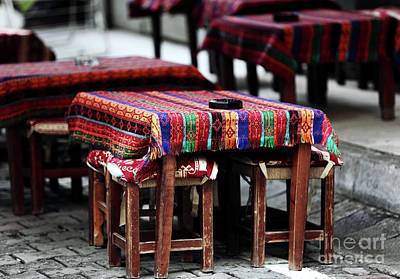 Photograph - Empty Tables In Istanbul by John Rizzuto
