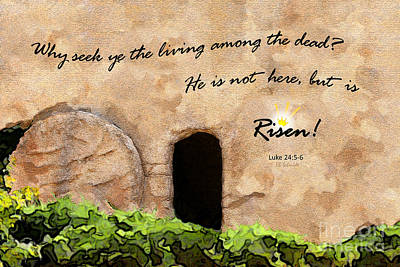 Empty Tomb - Luke 24 Art Print