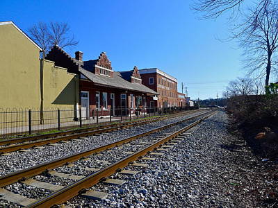 Photograph - Empty Train Tracks In Marietta by Denise Mazzocco