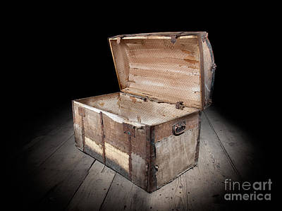 Treasure Box Photograph - Empty Treasure Chest by Sinisa Botas