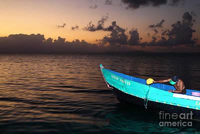 Emptying The Ocean Master Panama Art Print by James Brunker