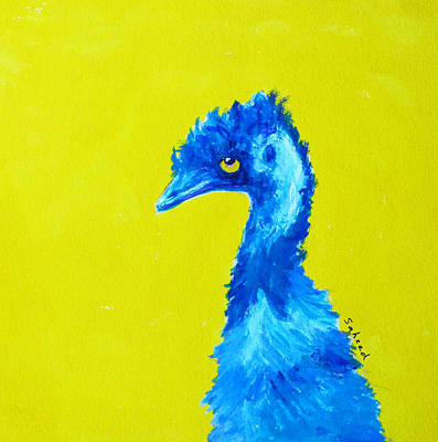 Painting - Emu Gold by Margaret Saheed
