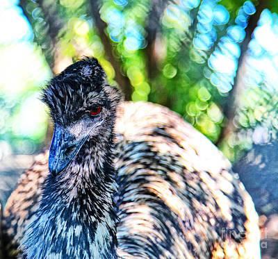 Emu Digital Art - Emu by Lori Frostad