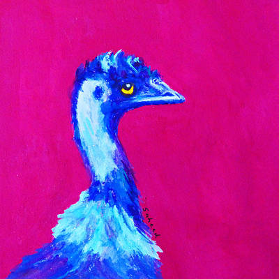 Painting - Emu Pink by Margaret Saheed