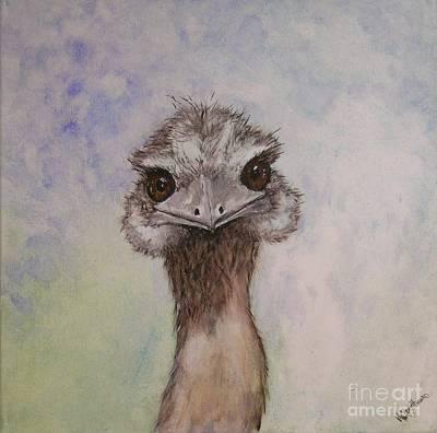 Emu Selfie Art Print by Kathy Carothers