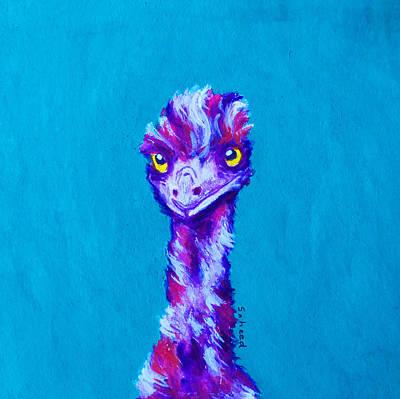 Painting - Emu Turquoise by Margaret Saheed