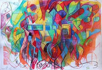 Creativity Drawing - Emunah 21 by David Baruch Wolk