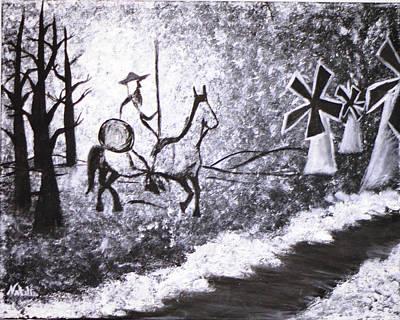 Don Quijote Painting - En Camino A La Victoria by Natalia Ponce