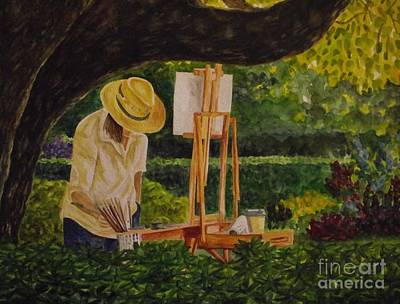 Painting - Plein Air In The Park by Michelle Welles