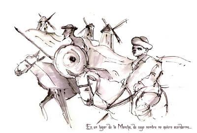 Painting - En Un Lugar De La Mancha by Miki De Goodaboom