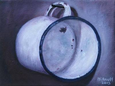 Painting - Enamel Mug by Ewan  McAnuff