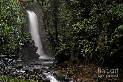 Encantada Waterfall Costa Rica Art Print