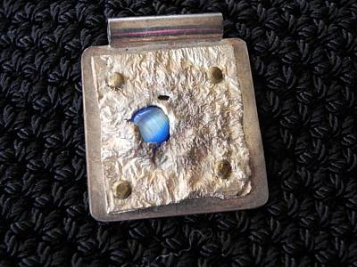 Jewelry - Encased Blue Stone by Patricia  Tierney