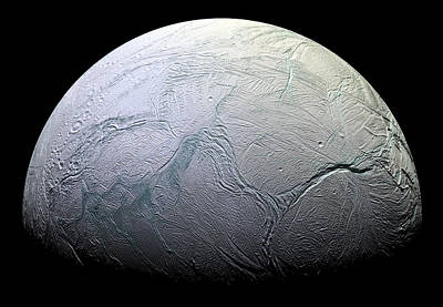 False-colored Photograph - Enceladus by Adam Romanowicz