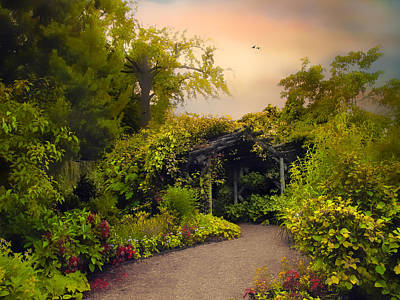 Walkway Digital Art - Enchanted Arbor by Jessica Jenney