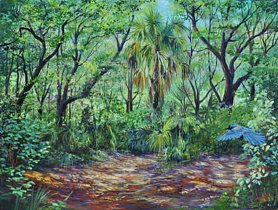 Art Print featuring the painting Enchanted Clearing by AnnaJo Vahle