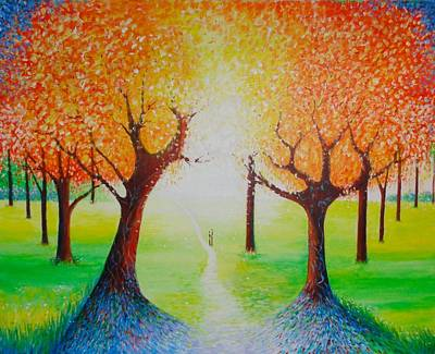 Abstract Realist Landscape Painting - Enchanted Day by Jean Tatton Jones