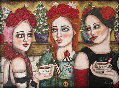 Tea Party Painting - Enchanted Eve by Shannon Nicole