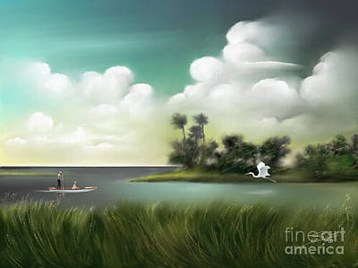 Painting - Enchanted Florida by Sgn
