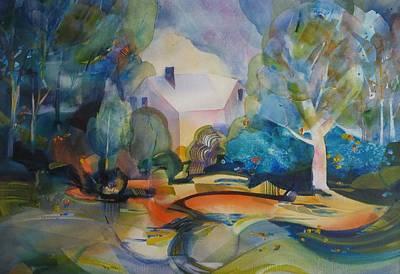 Painting - Enchanted Forest by Elena Balekha