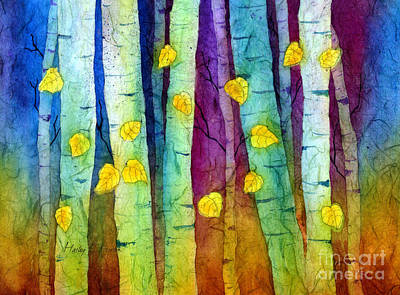 Batik Painting - Enchanted Forest by Hailey E Herrera