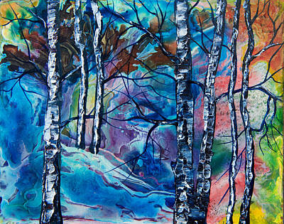 Painting - Enchanted Forest by OLena Art Brand