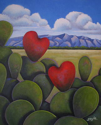 Enchanted Hearts Art Print