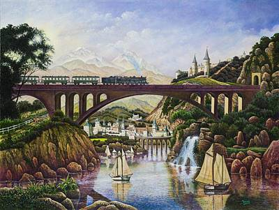 Painting - Enchanted Kingdom by Michael Frank