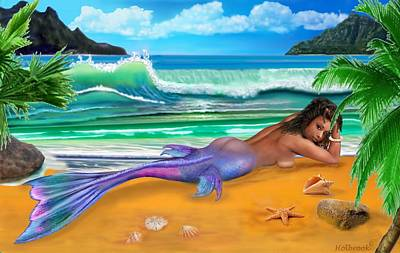 Digital Art - Enchanted Mermaid by Glenn Holbrook