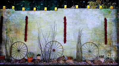 Ristra Digital Art - Enchanted New Mexico Evening by Barbara Chichester