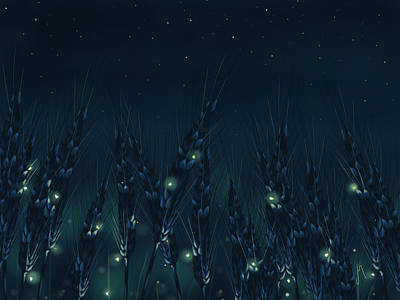 Firefly Painting - Enchanted Night by Veronica Minozzi