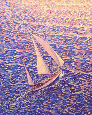 Sailboat Ocean Painting - John Samsen by John Samsen