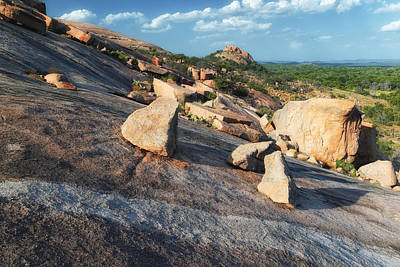 Photograph - Enchanted Rock Texas Hill Country Natural Arrangement Of Sliding Boulders At Enchanted Rock by Silvio Ligutti