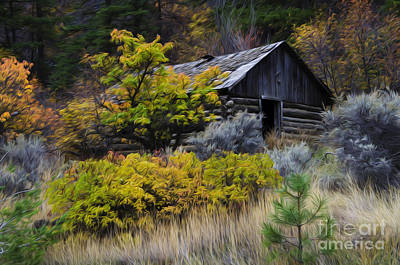 Log Cabins Photograph - Enchanted Spaces Cabin In The Woods 2 by Bob Christopher