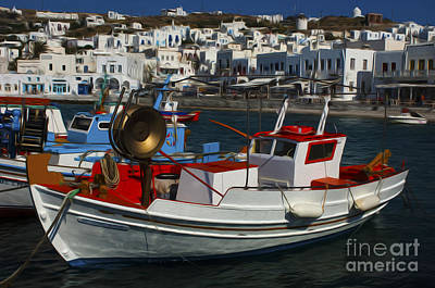 Photograph - Enchanted Spaces Mykonos Greece 1 by Bob Christopher