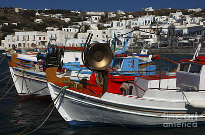 Photograph - Enchanted Spaces Mykonos Greece 2 by Bob Christopher