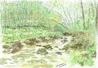 Painting - Enchanted Stream - Sketch by Joel Deutsch