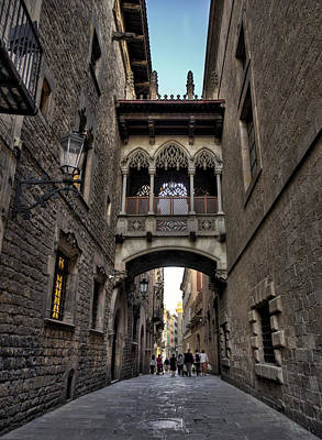 Photograph - Enchanted Streets Of Barcelona by Yelena Rozov