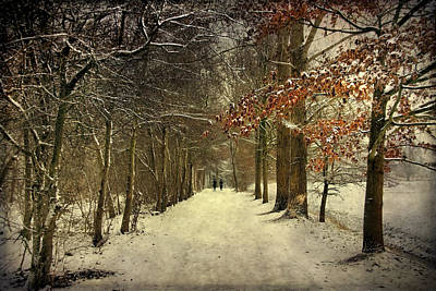 Enchanting Dutch Winter Landscape Art Print
