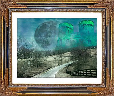 Full Moon Mixed Media - Enchanting Evening With Oz by Betsy Knapp