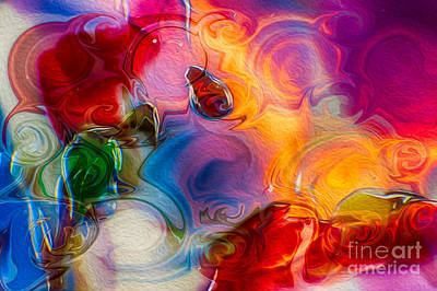 Fauvism Mixed Media - Enchanting Flames by Omaste Witkowski